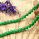 Beads, Glass, Green , Round shape, Diameter 8mm, 10 Beads, [BHB0163]